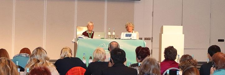 Dr. med Harald Blomberg and moderator Gudrun Bunkenburg